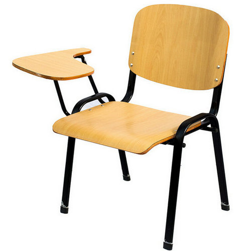 Top grade wooden student chairs with Writing Tablet