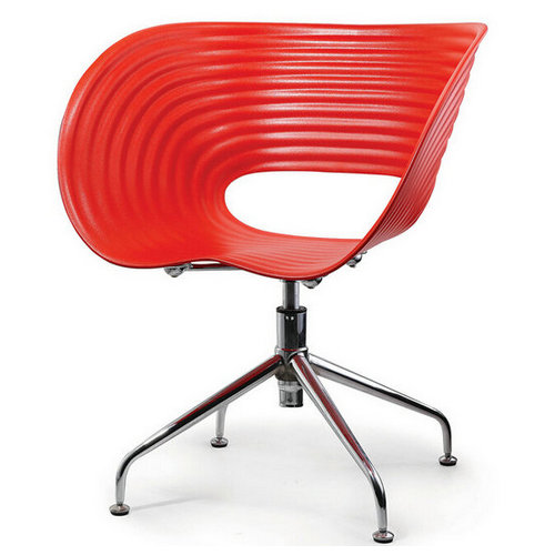 Metal leg plastic leisure chair durable and safely chair
