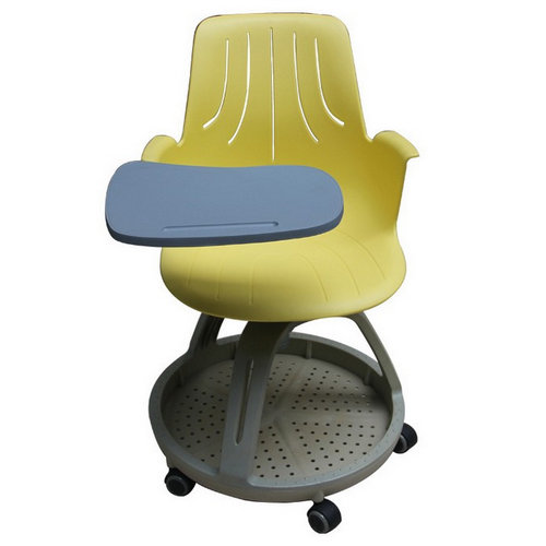 Removable training chair with tablet chair student seating