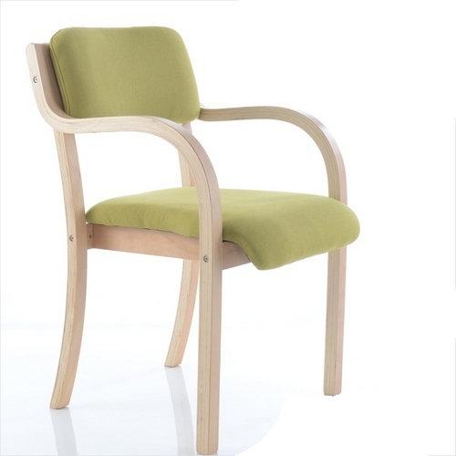 Graceful molding bent wood avant-garde look chair seating
