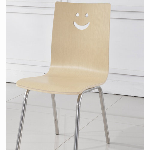 Stainless minimalist dining chair wood chair