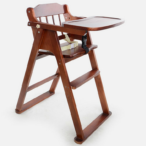 Portable folding solid wood dining chairs for children