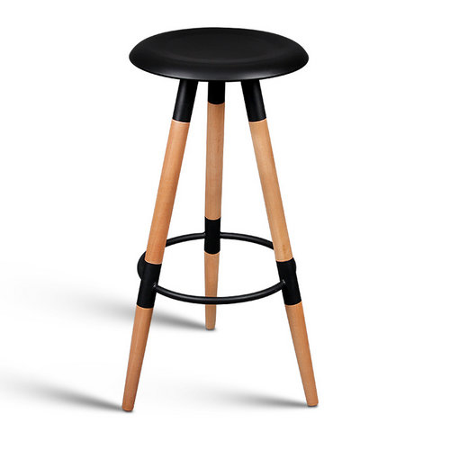 Stylish wood bar stool high leisure chair reception chair
