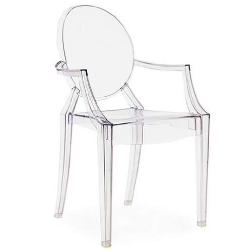 Louis Ghost Chair thick acrylic plastic chairs leisure chair