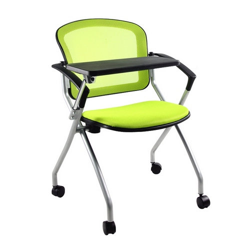 Folding conference training chair with board writing pad