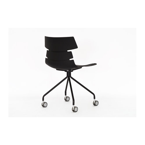 Outdoor leisure chair Plastic eames office chair with wheels