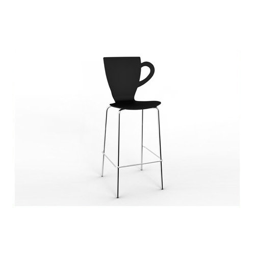 PP plastic chair with steel legs Bar chair leisure chair