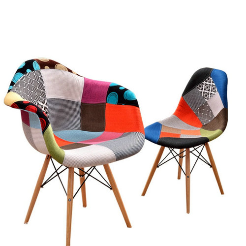Eames Eiffel DAW Chair with Patchwork Fabric Cover Wholesale