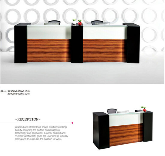 China Factory Office Melamine Reception Desk/Counter/table