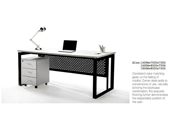 Steel Panel office furniture computer wooden table/desk