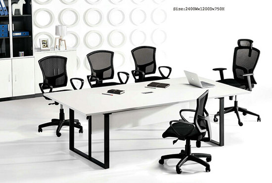 Panel metal meeting table conference desk chatting table