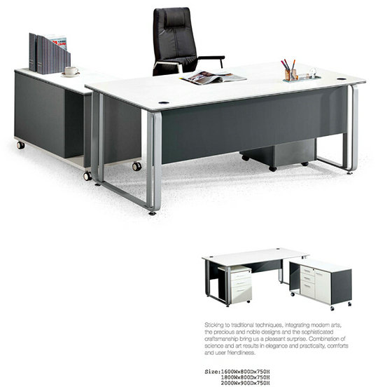 Metal Panel computer table/desk executive desk made in china