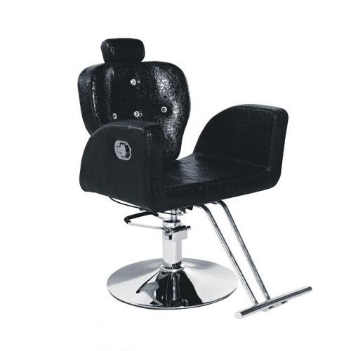 black hydraulic reclining barber chair / salon shop hairdres