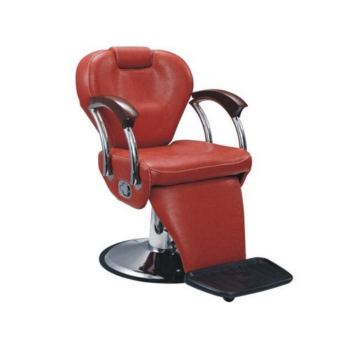 modern red man reclining styling chair / vintage barber chai