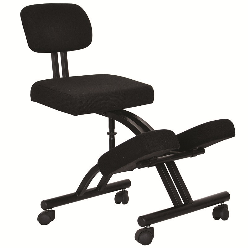 cheap metal height adjustable kneeling chair with backrest