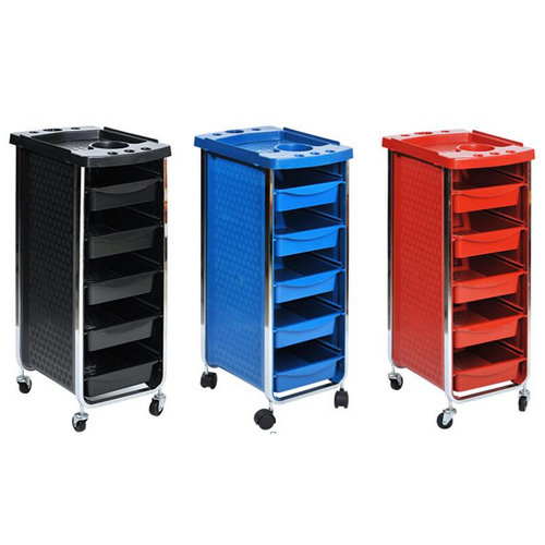China Plastic Hair Salon Rolling Cart Coloring Hair Trolley