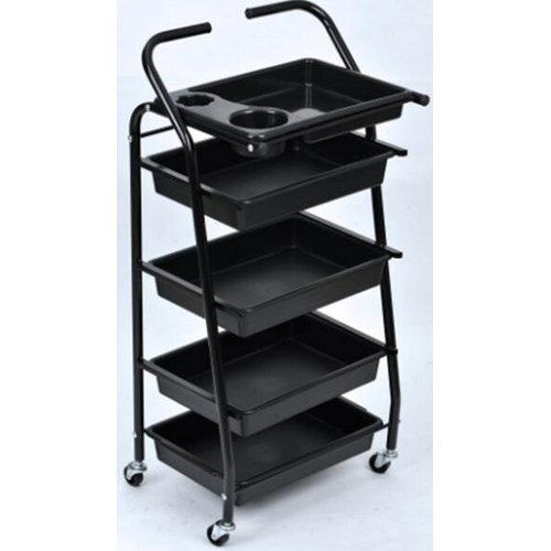 cheap 5-level plastic spa beauty salon trolley cart