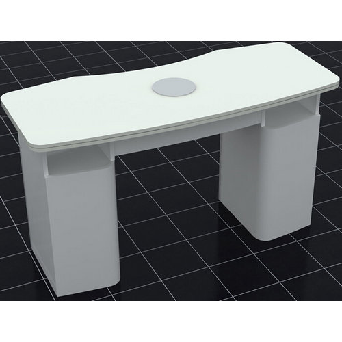 white beauty salon furniture nail and manicure table