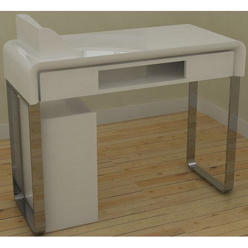 Beauty modern metal white manicure chair nail salon desk