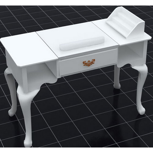 cheap manicure table with nail dryer nail station manufactur