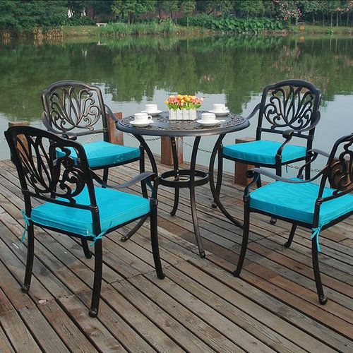 best cast aluminum outdoor furniture leisure dining sets