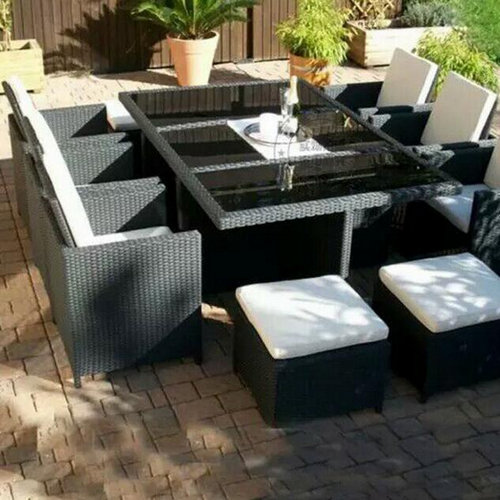 China classic rattan square dining patio coffee table sets