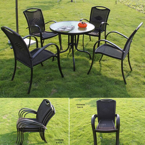 Modern design stackable garden furniture rattan chairs
