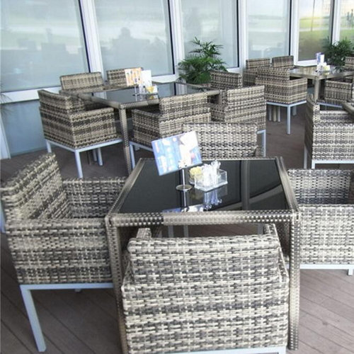 Grey Rattan Outdoor Garden Furniture Dining Set with Table