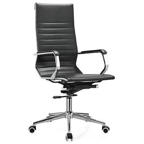 Classic swivel black leather office chairs high adjustable