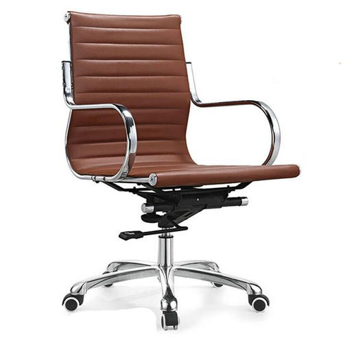 China Mid Back Staff Leather Computer Chair Office Seating