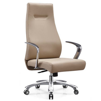 Foshan brown leather height adjustable manager office chairs