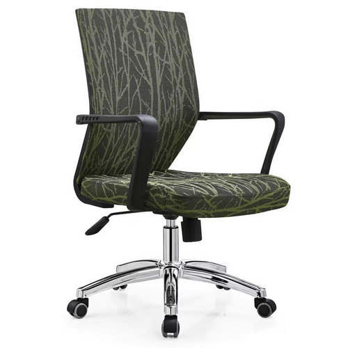 Ergonomic Swivel Gas Lift Green Fabric Elegant Office Chair