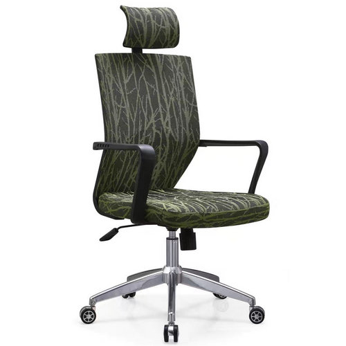 Foshan Green Fabric High Back Swivel Office Computer Chair
