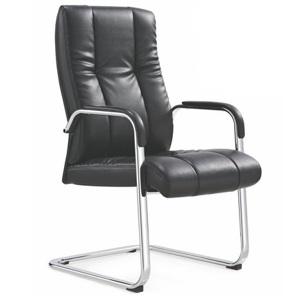 Foshan PU leather meeting room computer chairs with bow foot