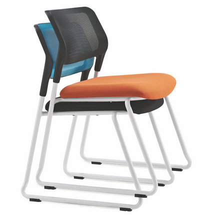 Guangzhou steel armless office stackable staff meeting chair