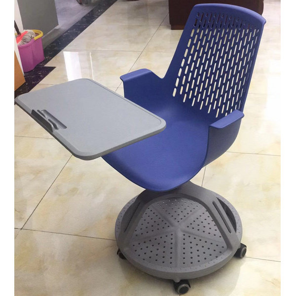 Cheap plastic school student chair with folding writing pad