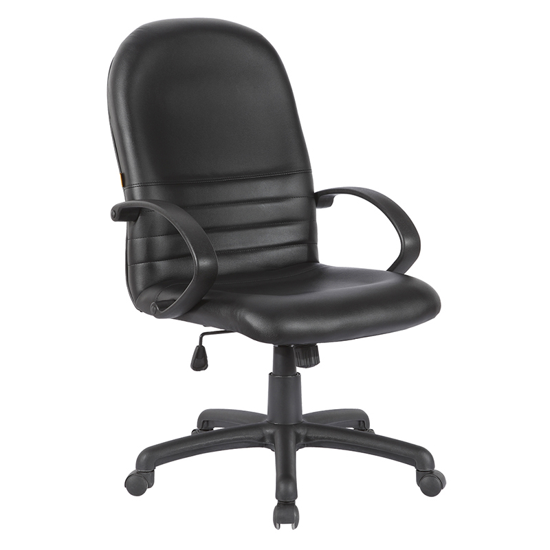 Low price black leather task office chairs